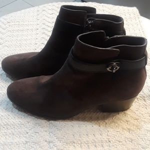 Coach Women's Suede Ankle Booties Size 9.5B
